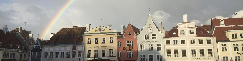 エストニアのタリンの虹